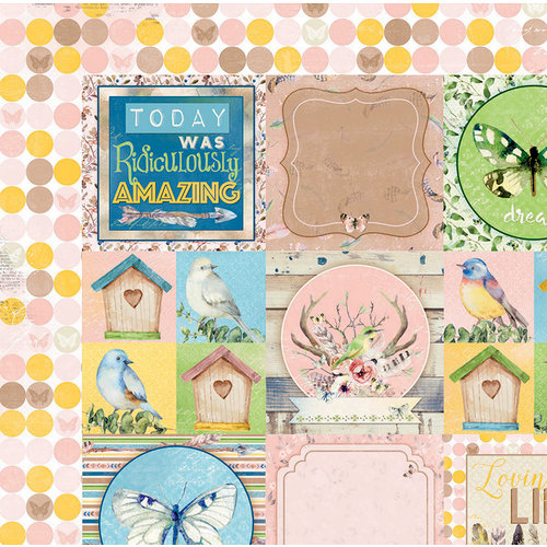 BoBunny - Serendipity Collection - 12 x 12 Double Sided Paper - Greetings