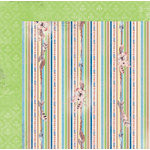BoBunny - Serendipity Collection - 12 x 12 Double Sided Paper - Stripe