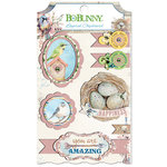 BoBunny - Serendipity Collection - Layered Chipboard Stickers with Glitter Accents