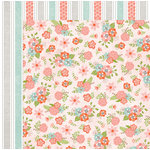 BoBunny - Weekend Adventure Collection - 12 x 12 Double Sided Paper - Blooms