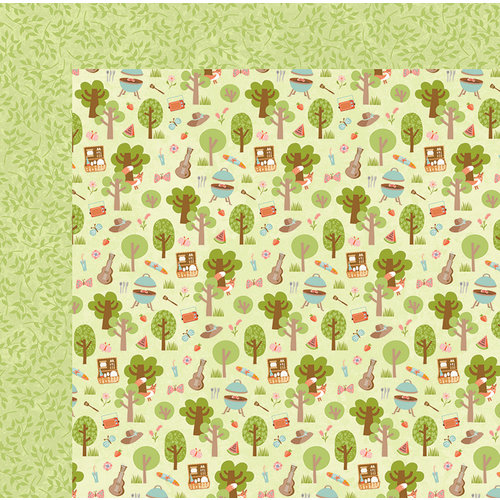 BoBunny - Weekend Adventure Collection - 12 x 12 Double Sided Paper - Picnic