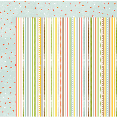 BoBunny - Weekend Adventure Collection - 12 x 12 Double Sided Paper - Stripe