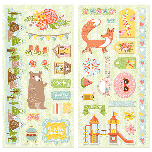 BoBunny - Weekend Adventure Collection - Chipboard Stickers