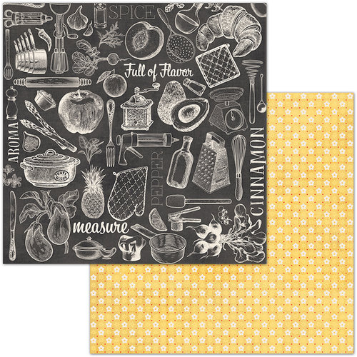 BoBunny - Family Recipes Collection - 12 x 12 Double Sided Paper - Cuisine