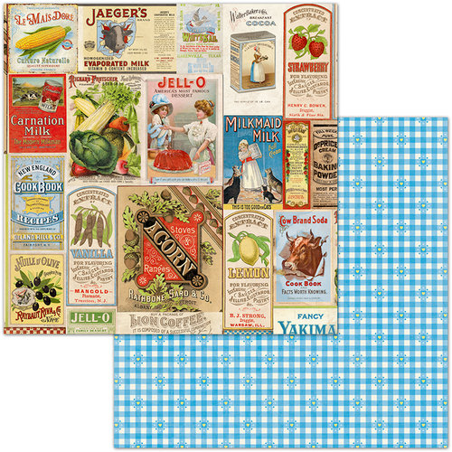 BoBunny - Family Recipes Collection - 12 x 12 Double Sided Paper - Delicious