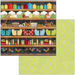 BoBunny - Family Recipes Collection - 12 x 12 Double Sided Paper - Pantry