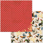 BoBunny - Family Recipes Collection - 12 x 12 Double Sided Paper - Paprika