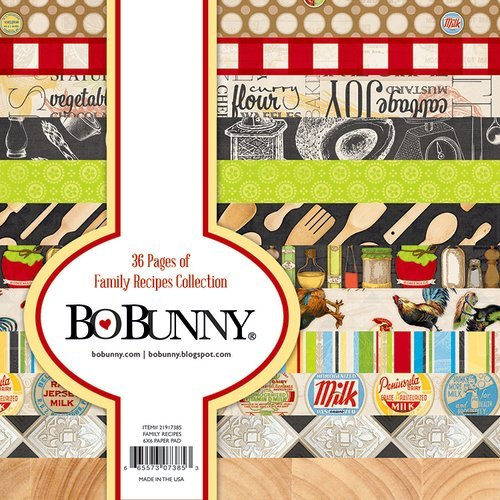BoBunny - Family Recipes Collection - 6 x 6 Paper Pad