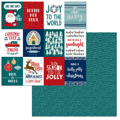 BoBunny - Fa La La Collection - Christmas - 12 x 12 Double Sided Paper - Be Merry