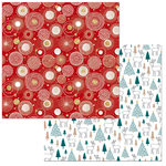 BoBunny - Fa La La Collection - Christmas - 12 x 12 Double Sided Paper - Cheer