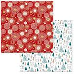BoBunny - Fa La La Collection - Christmas - 12 x 12 Double Sided Paper - Cheer