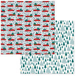 BoBunny - Fa La La Collection - Christmas - 12 x 12 Double Sided Paper - Christmas Tree