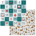 BoBunny - Fa La La Collection - Christmas - 12 x 12 Double Sided Paper - Countdown