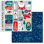 BoBunny - Fa La La Collection - Christmas - 12 x 12 Double Sided Paper - Noteworthy