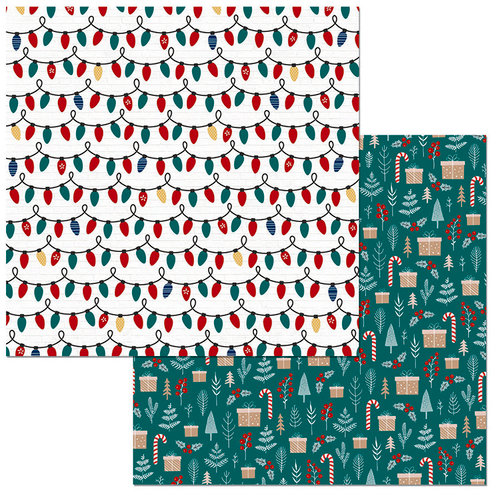 BoBunny - Fa La La Collection - Christmas - 12 x 12 Double Sided Paper - Sparkle
