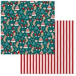 BoBunny - Fa La La Collection - Christmas - 12 x 12 Double Sided Paper - Warm and Cozy