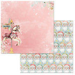 BoBunny - Carousel Christmas Collection - 12 x 12 Double Sided Paper - Carousel Christmas