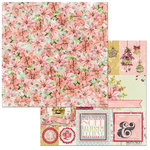 BoBunny - Carousel Christmas Collection - 12 x 12 Double Sided Paper - Floral