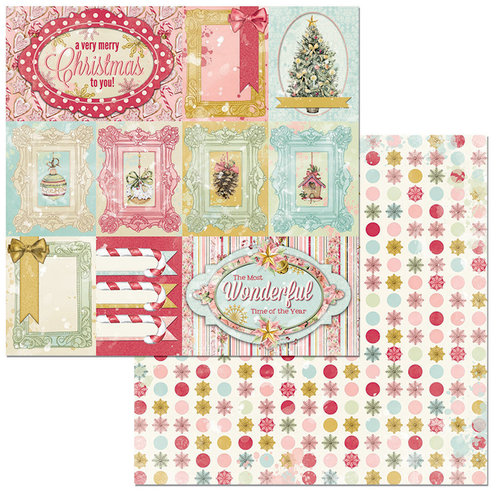 BoBunny - Carousel Christmas Collection - 12 x 12 Double Sided Paper - Greetings