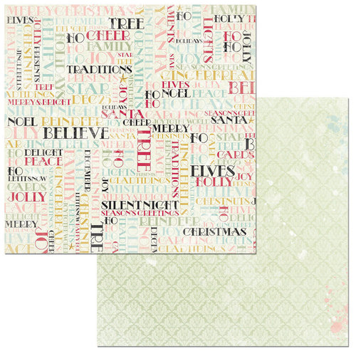 BoBunny - Carousel Christmas Collection - 12 x 12 Double Sided Paper - Noel