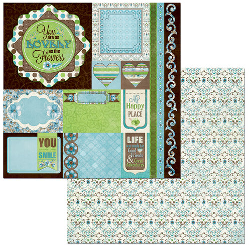 BoBunny - Penelope Collection - 12 x 12 Double Sided Paper - Journey
