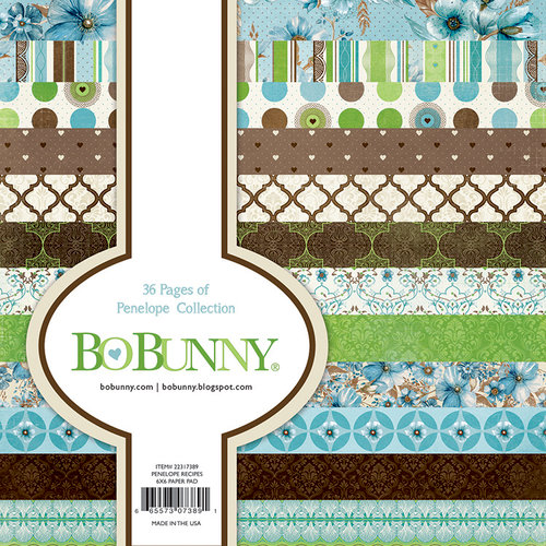 BoBunny - Penelope Collection - 6 x 6 Paper Pad