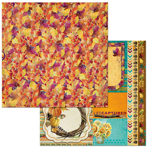 BoBunny - Dreams of Autumn Collection - 12 x 12 Double Sided Paper - Breathtaking