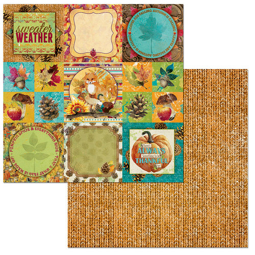 BoBunny - Dreams of Autumn Collection - 12 x 12 Double Sided Paper - Fall