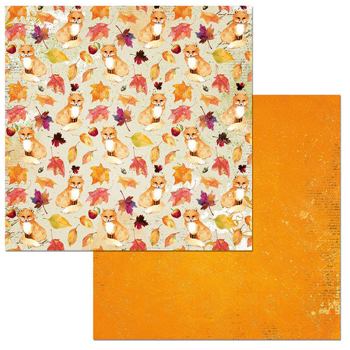 BoBunny - Dreams of Autumn Collection - 12 x 12 Double Sided Paper - Foxes