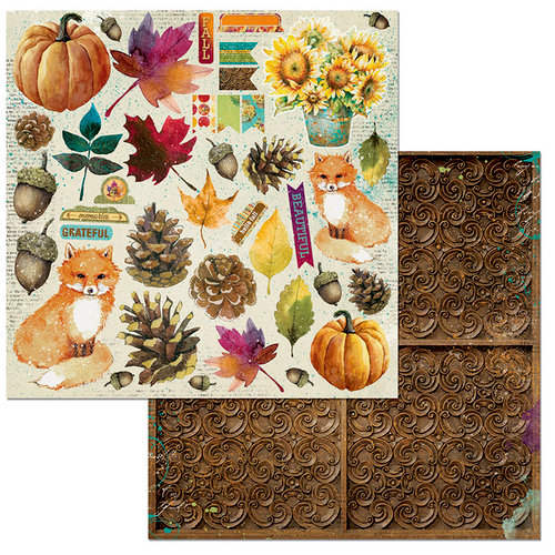 BoBunny - Dreams of Autumn Collection - 12 x 12 Double Sided Paper - Noteworthy