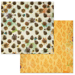 BoBunny - Dreams of Autumn Collection - 12 x 12 Double Sided Paper - Pinecones
