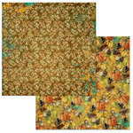 BoBunny - Dreams of Autumn Collection - 12 x 12 Double Sided Paper - Pumpkin Spice