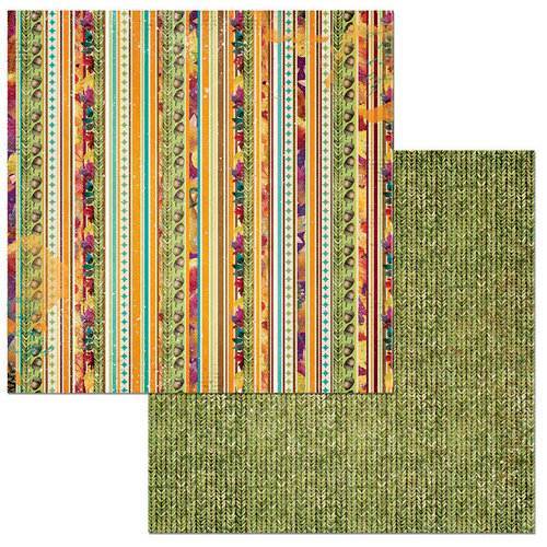 BoBunny - Dreams of Autumn Collection - 12 x 12 Double Sided Paper - Stripe