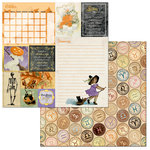 BoBunny - On This Day Collection - 12 x 12 Double Sided Paper - On This Day in October