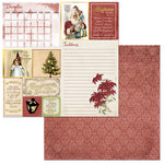BoBunny - On This Day Collection - 12 x 12 Double Sided Paper - On This Day in December