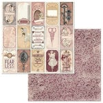 BoBunny - Charmed Collection - 12 x 12 Double Sided Paper - Charmed Mirror