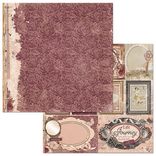 BoBunny - Charmed Collection - 12 x 12 Double Sided Paper - Charmed Petals