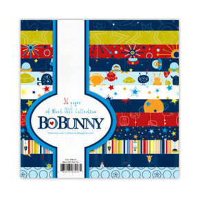 Bo Bunny - Blast Off Collection - 6 x 6 Paper Pad
