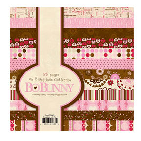 Bo Bunny Press - Crazy Love Collection - Valentine - 6 x 6 Paper Pad