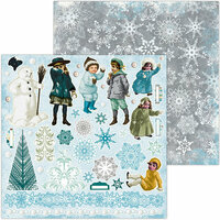 BoBunny - Winter Playground Collection - 12 x 12 Double Sided Paper - Noteworthy