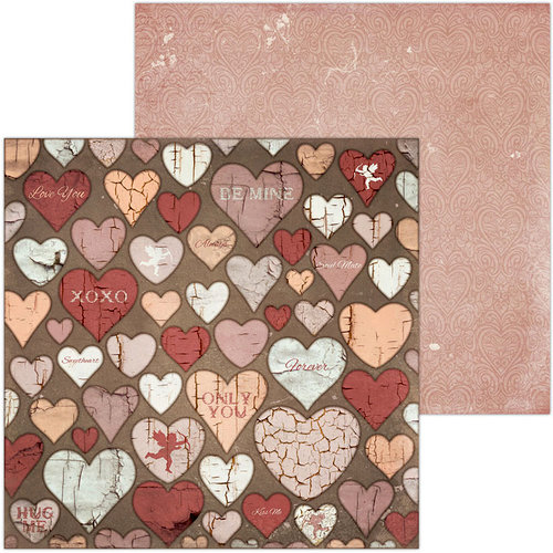 BoBunny - Only You Collection - 12 x 12 Double Sided Paper - Cupid