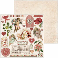 BoBunny - Only You Collection - 12 x 12 Double Sided Paper - Noteworthy