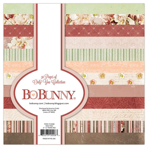 BoBunny - Only You Collection - 6 x 6 Paper Pad