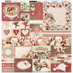 BoBunny - Only You Collection - 12 x 12 Cardstock Stickers - Combo
