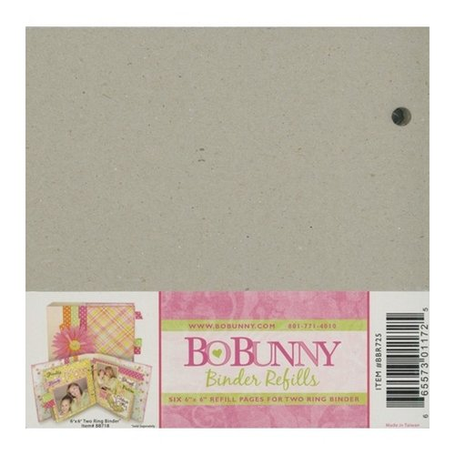 BoBunny - 6x6 Bare Naked Binder - with Six Pages