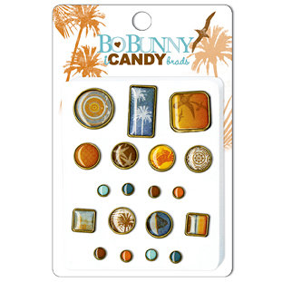 Bo Bunny Press - Paradise Collection - I Candy Brads - Paradise, BRAND NEW