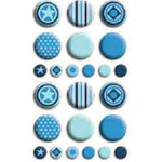 Bo Bunny Press - Double Dot - Brads - Brilliant Blue, CLEARANCE