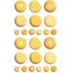 Bo Bunny Press - Double Dot - Brads - Buttercup , CLEARANCE