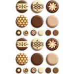 Bo Bunny Press - Double Dot - Brads - Chocolate