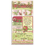 Bo Bunny Press - Felicity Collection - Cardstock Stickers - Best Buds